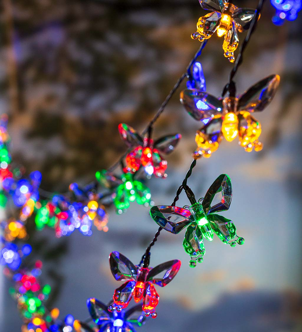 Multi-Function, Color-Changing Solar Butterfly String Lights