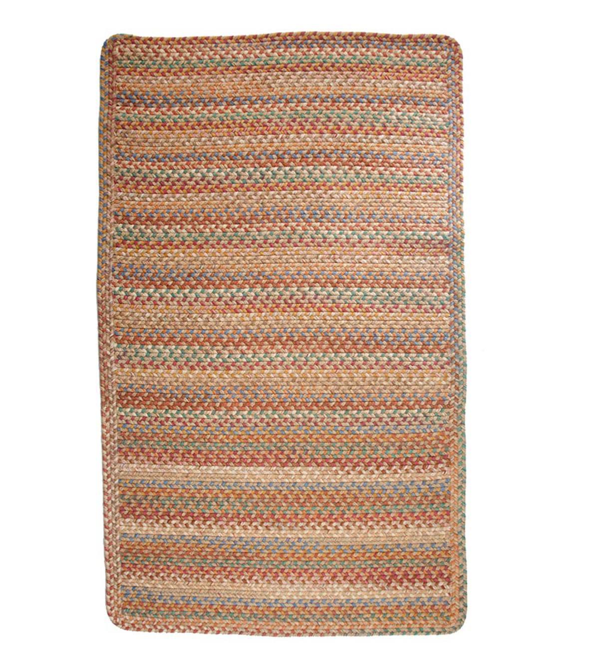 Blue Ridge Rectangle Wool Braided Rug 8 X 11 Moss