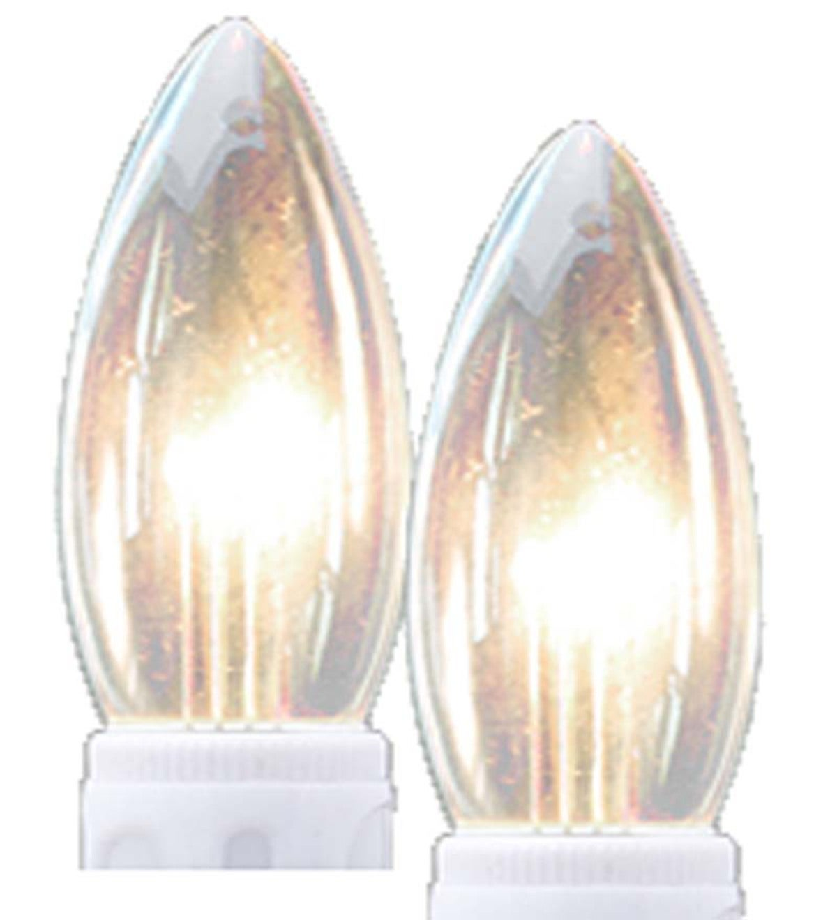 Outward-Facing LED Replacement Bulbs, Set of 2 - Ivory Base