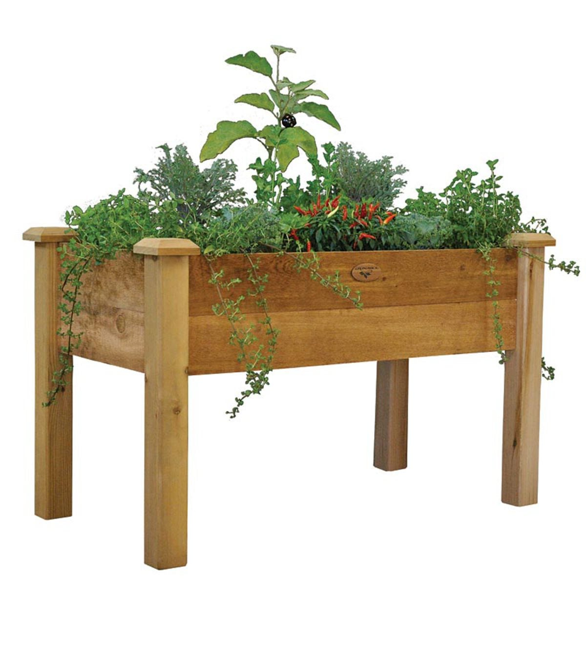 American-Made Rustic Elevated Garden Bed | PlowHearth