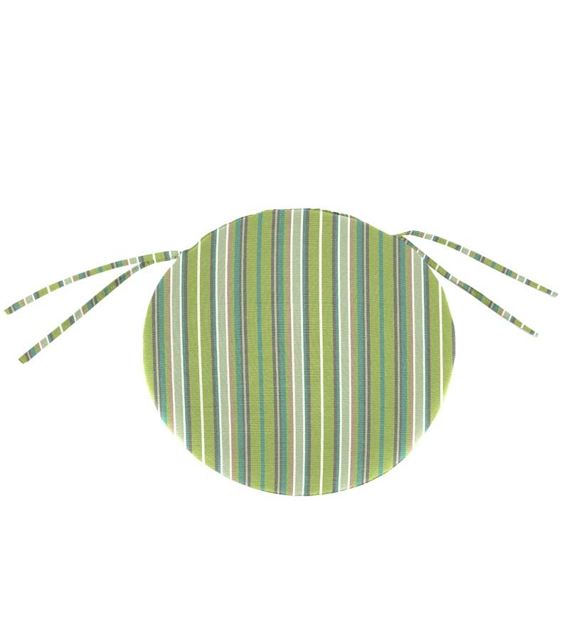 "Sunbrella Classic Round Chair Cushion With Ties, 16"" x 2"" swatch image"