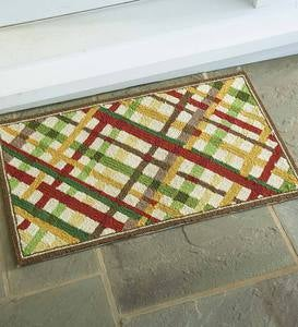 Fall Plaid Indoor/Outdoor Accent Rug