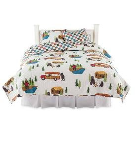 Reversible Big Bear Lake Quilt Set, King