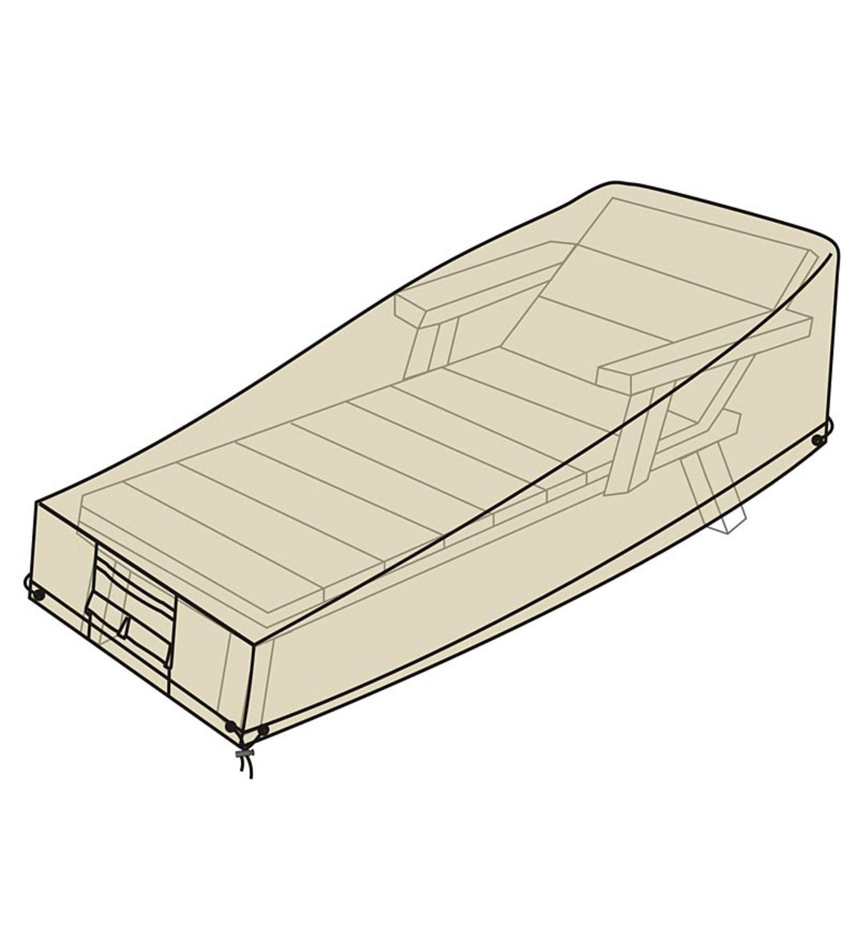 Deluxe Chaise Cover - Tan