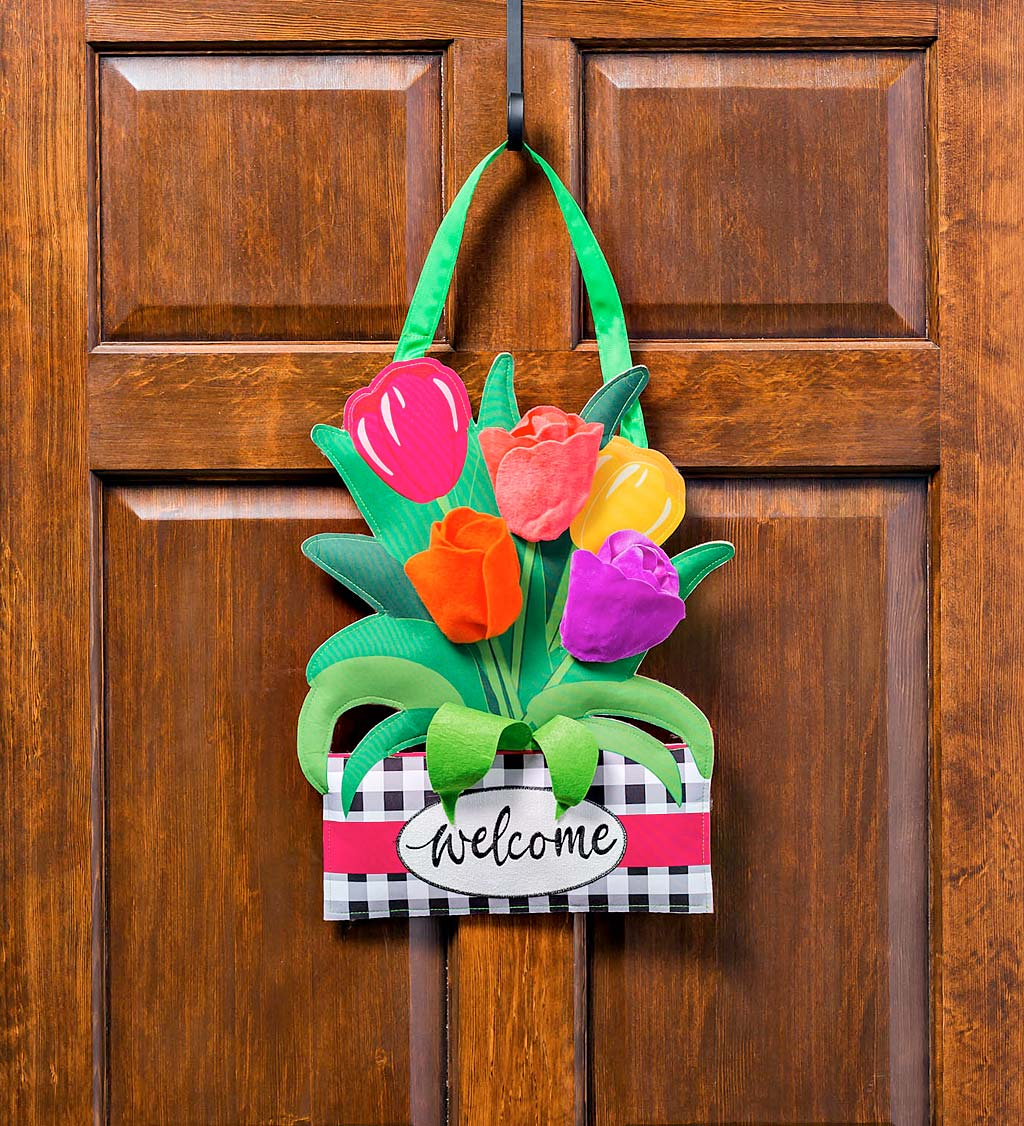 Spring Tulips Door Décor