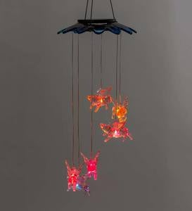 Color Changing Solar Mobile with Flying Pigs