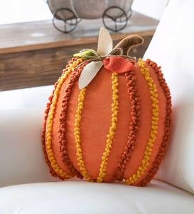 Pumpkin Shaped Textured 3D Pillow