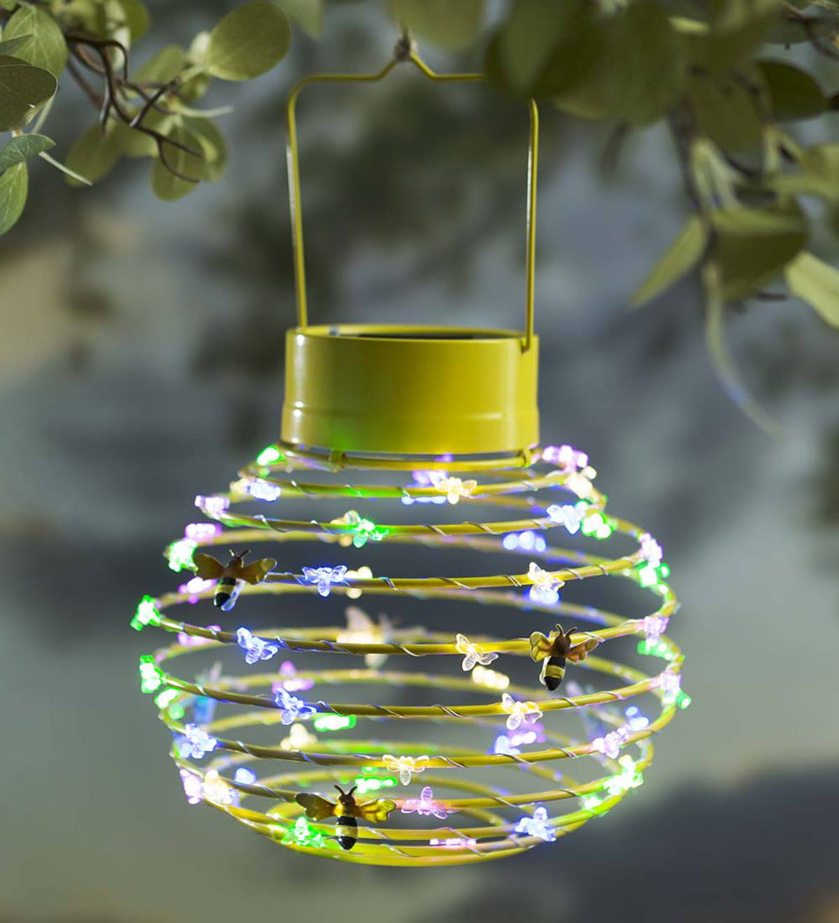 Hanging Solar Lantern Decoration, Bees