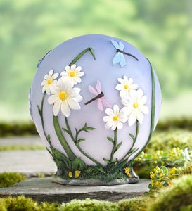 Glowing LED Daisy Garden Globe