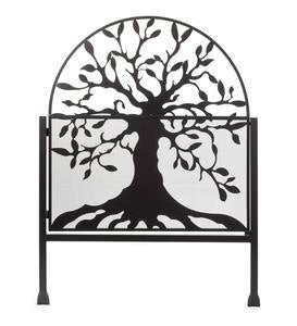 Metal Arched Stand-Alone Garden Gate with Tree of Life Design