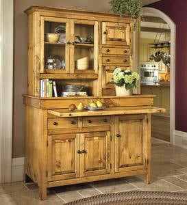 Large Stained Finish Conestoga Cupboard