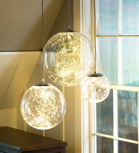 Indoor/Outdoor Lighted Acrylic Orbs with Micro LEDs