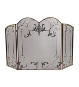 Venetian Bronze Three-Panel Fire Screen