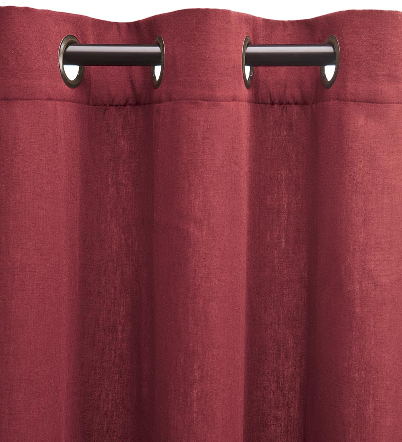 "Homespun Grommet-Top Insulated Curtain, 84""L"