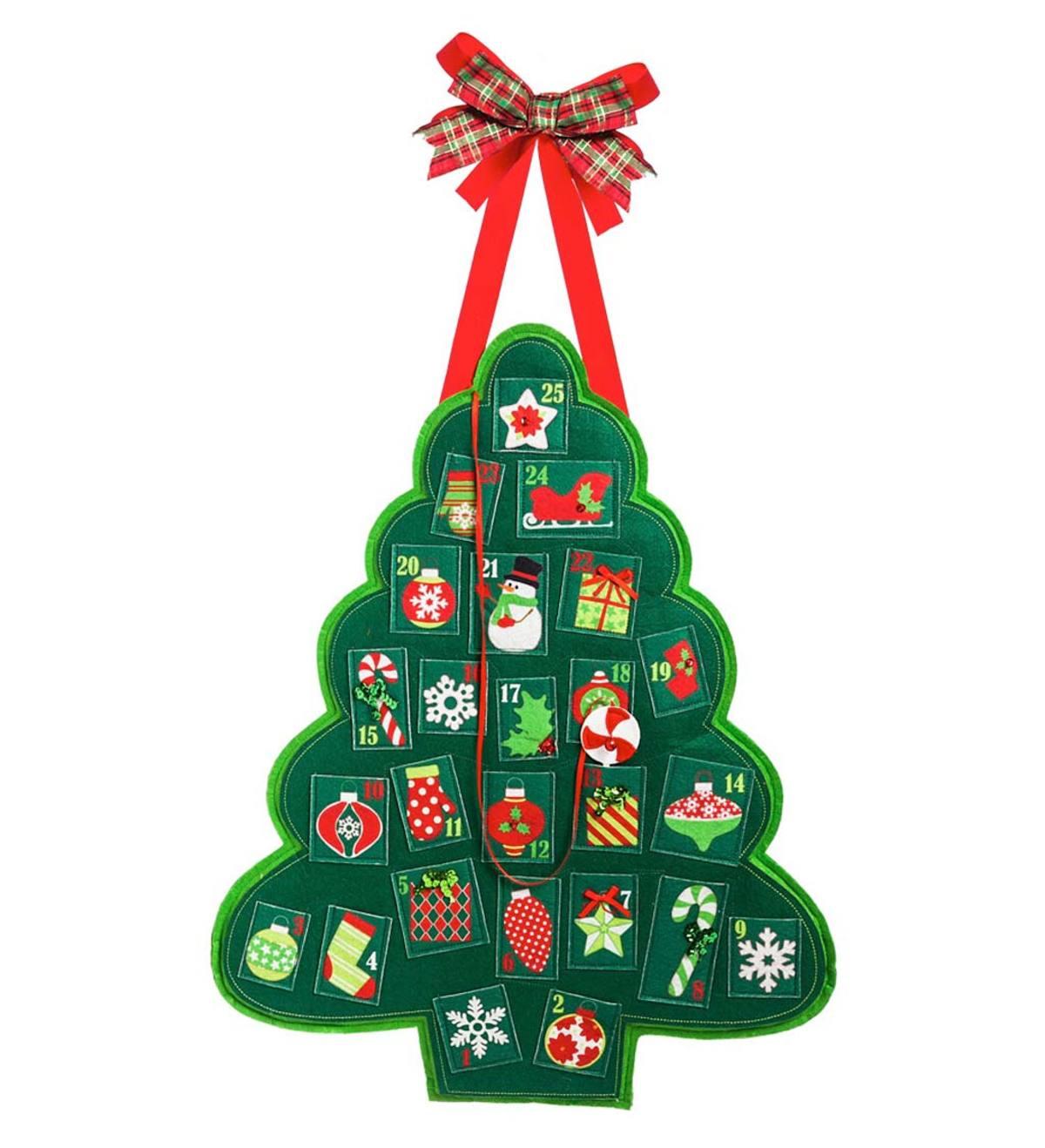 Felt Christmas Advent Calendar Hanging Decoration Plowhearth