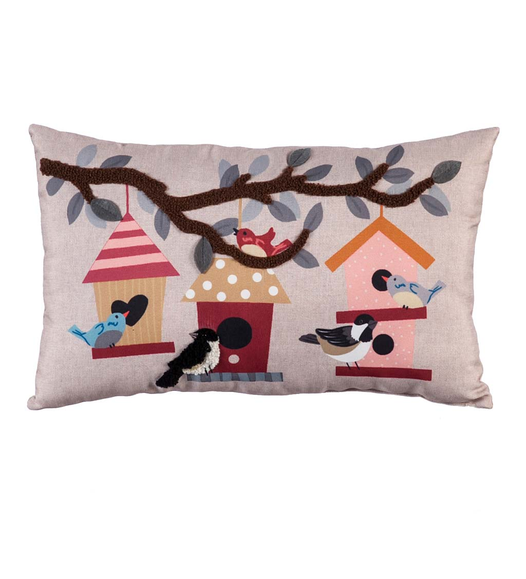 Birdhouse Lumbar Throw Pillow