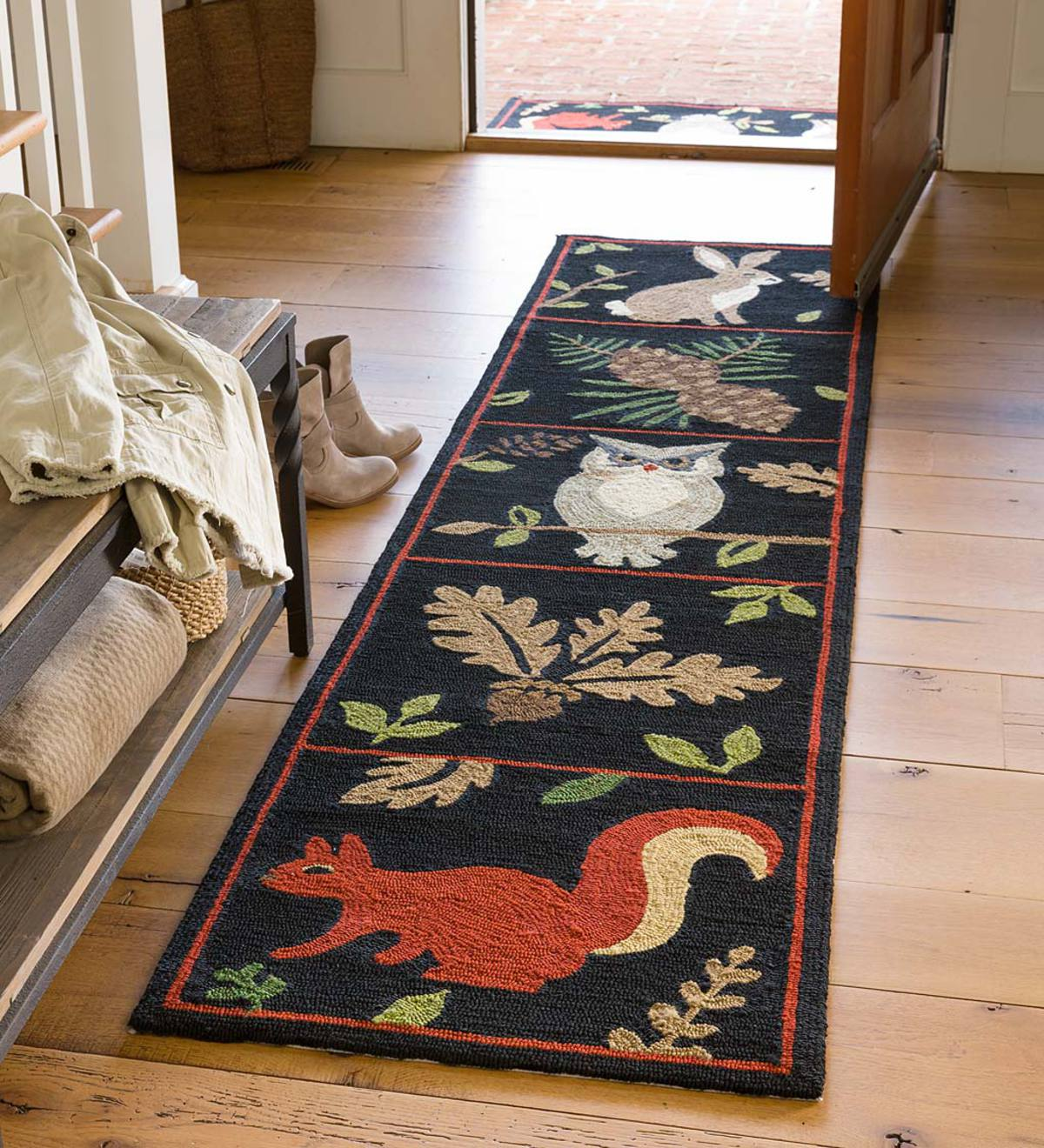 Indoor Outdoor Woodland Runner Outdoor Rugs Plowhearth