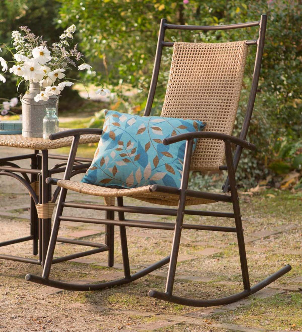 Astounding Carter Ridge Resin Wicker Outdoor Rocker Plowhearth Inzonedesignstudio Interior Chair Design Inzonedesignstudiocom