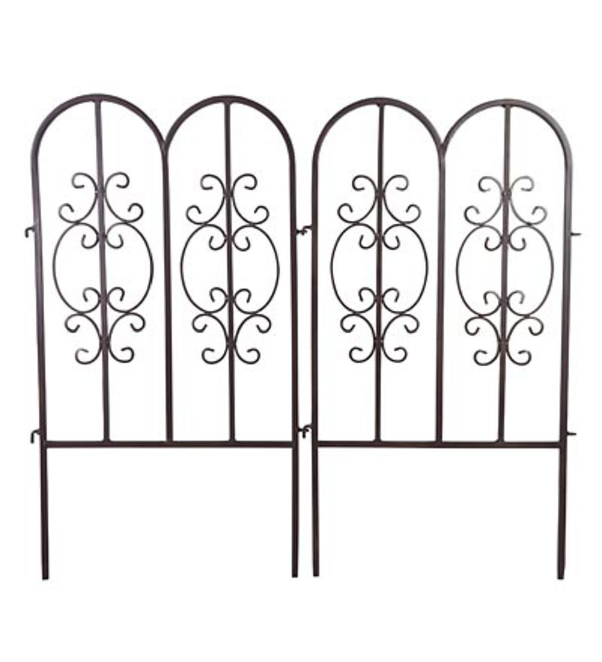 Montebello Iron Garden Fencing, Set of 2 - Gunmetal