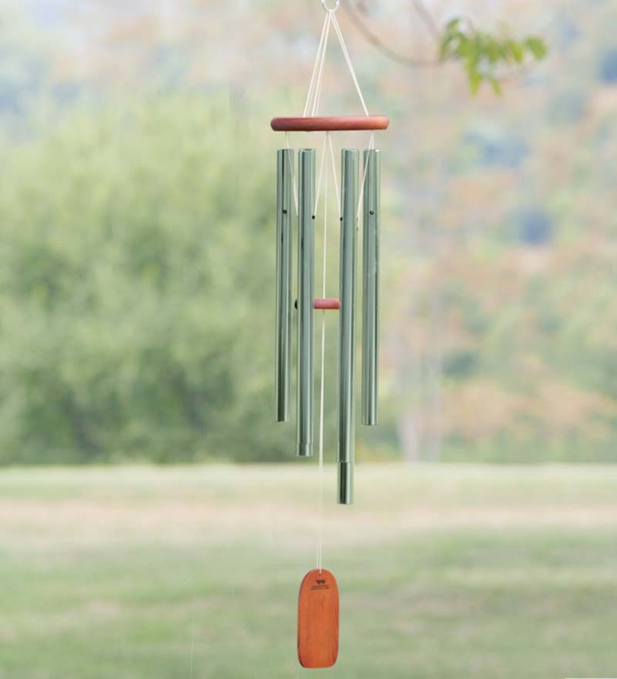 Weather-Resistant Aluminum and Bamboo Amazing Grace Tone Wind Chimes