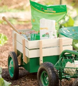 Scoot-n-Do Caddy Pull Cart With Wooden Sides
