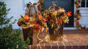 Pumpkins and Pine Cones Fall Garland
