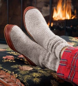 The Original Acorn Slipper Sock - Charcoal - Medium