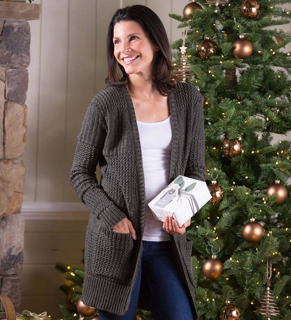 Women S Relaxed Fireside Open Front Cardigan Sweater