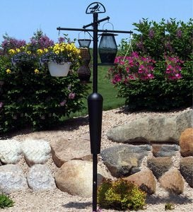 Weather-Resistant Squirrel Stopper Bird Feeder And Plant Stand