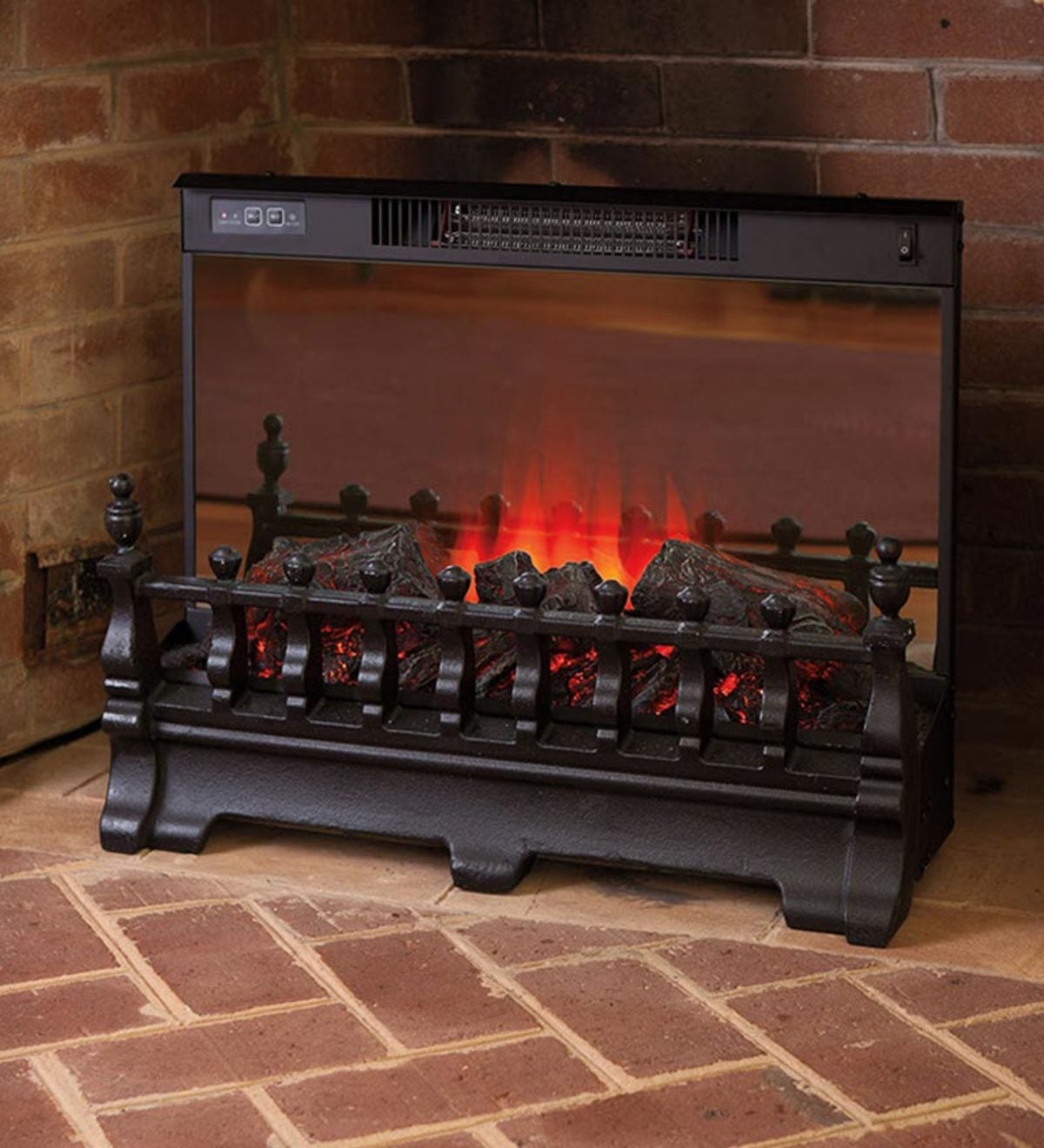 Magnificent Portable Electric Log Set Heater Plowhearth Interior Design Ideas Gentotryabchikinfo