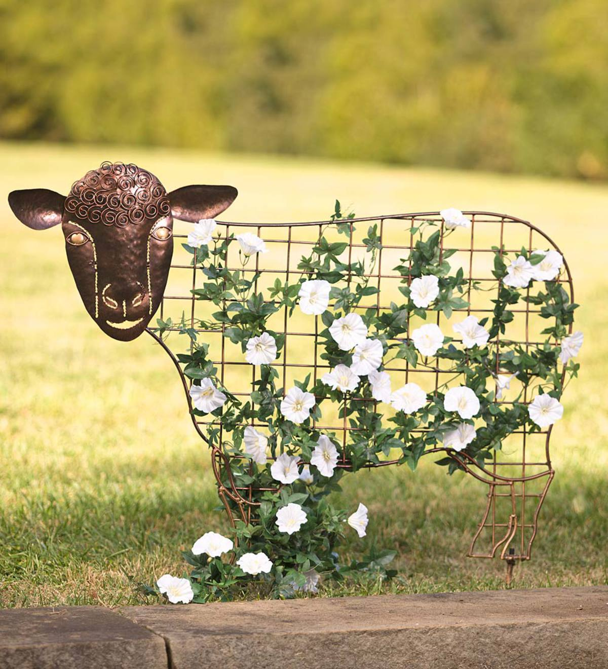 Sheep Garden Trellis   PlowHearth