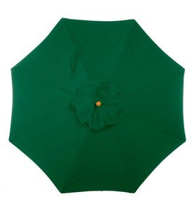 11' Auto-Tilt Sunbrella Umbrella with Crank Arm - Forest Green