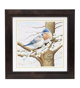 Personalized Framed Bluebird Print