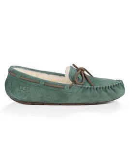UGG Ansley Moccasin Slippers - Sea Green - Size 8