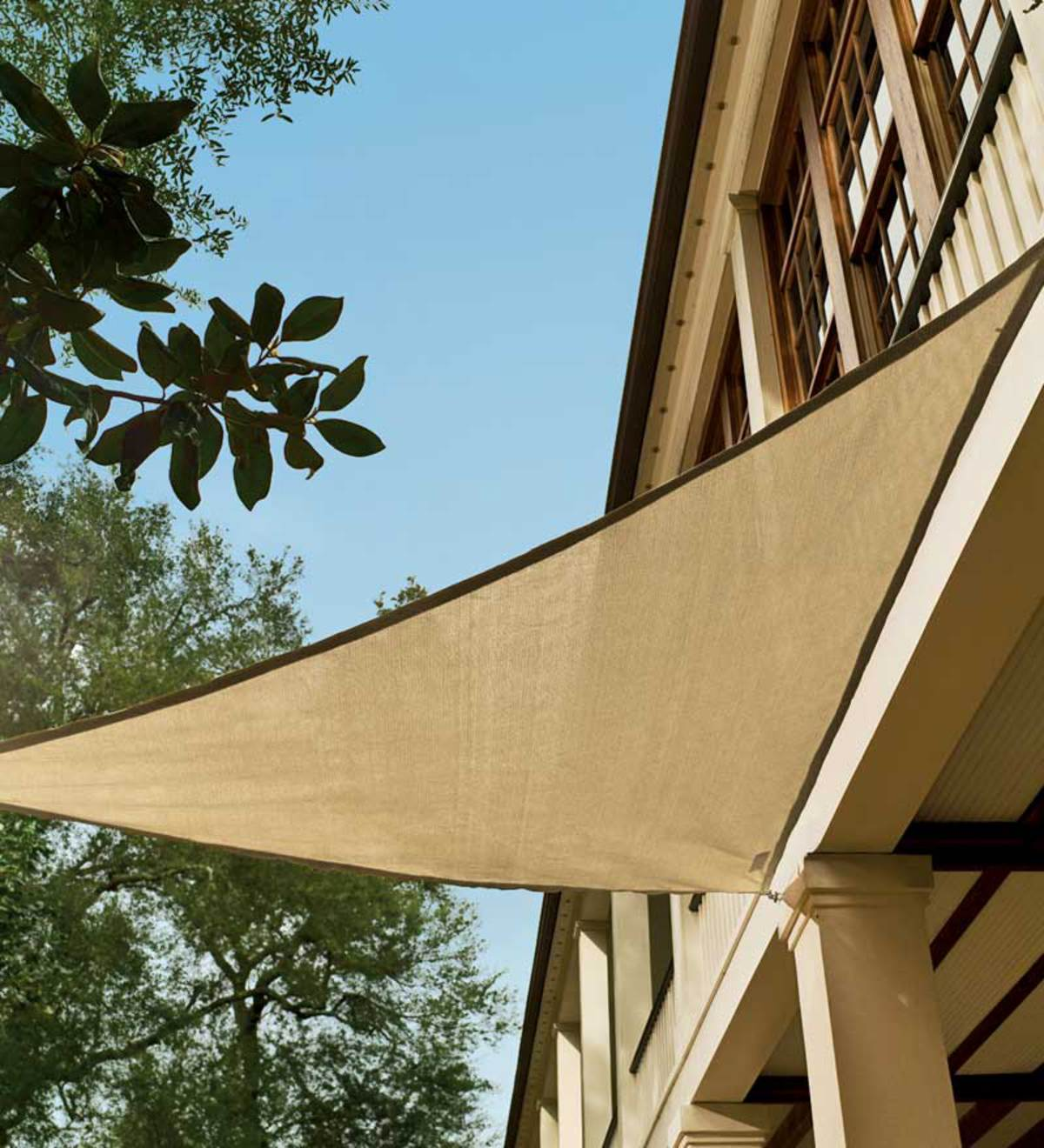 16 5 Quot Fade Resistant Sunblocking Triangle Shade Sail Blue
