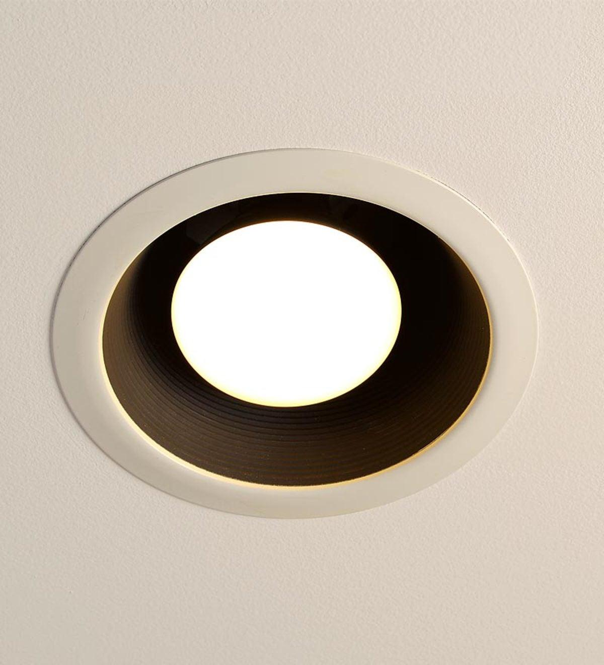 Simple Trim Recessed Light Cap Ring White Plowhearth