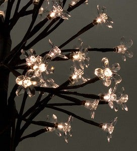 Cordless Blooming White Cherry Tree LED Table Accent