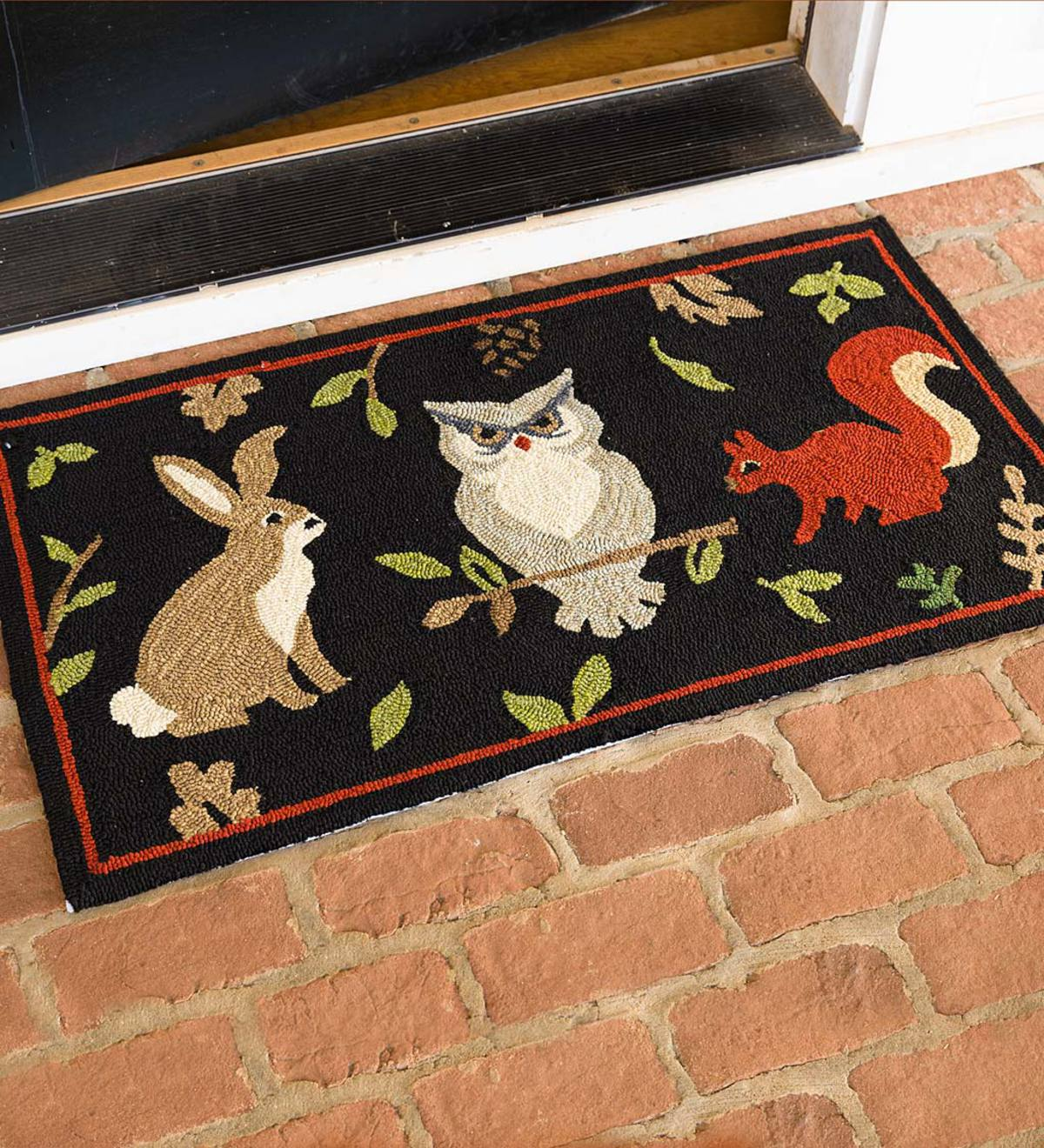 Indoor/Outdoor Hooked Woodland Rug
