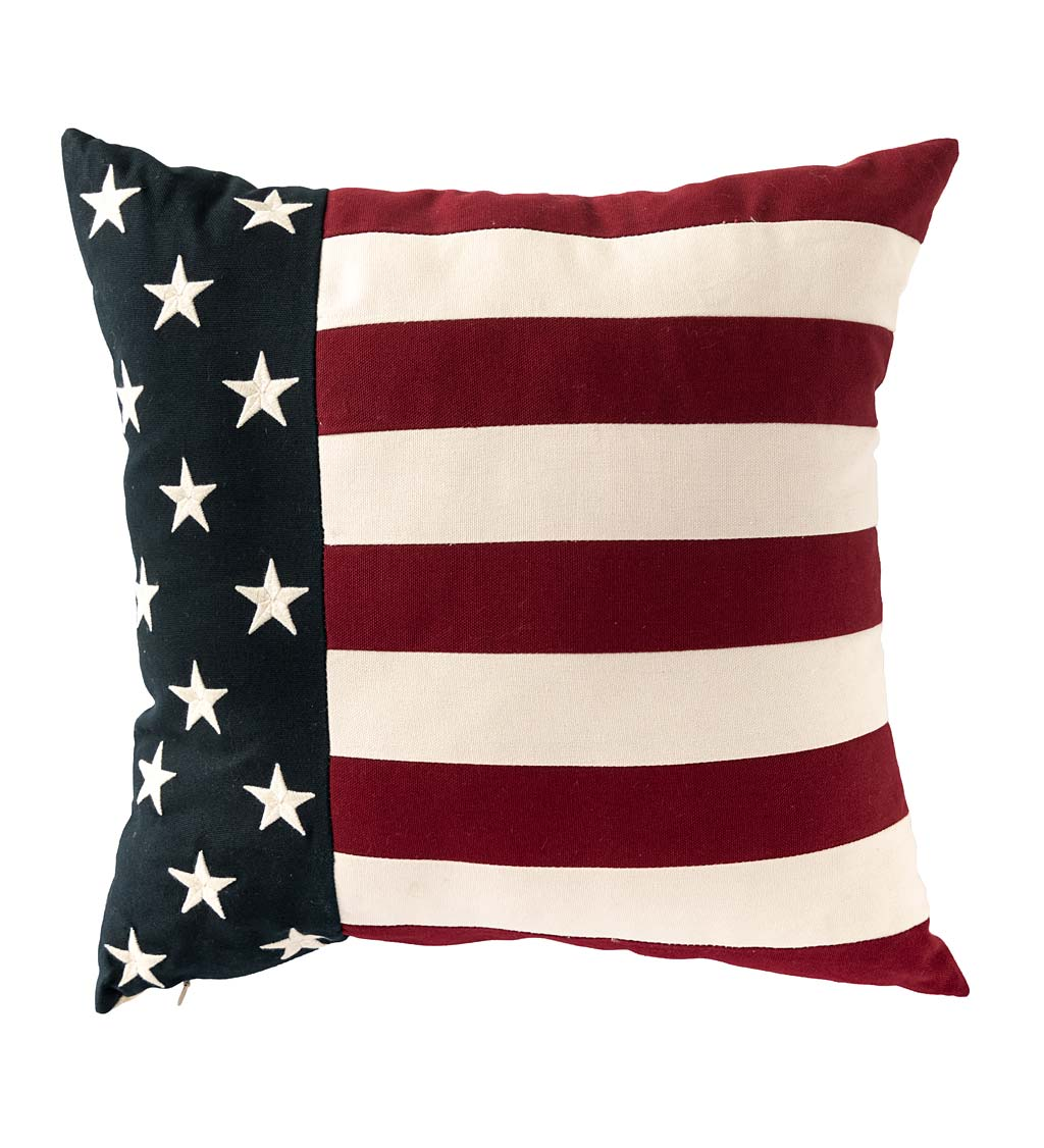 Indoor/Outdoor Patriotic Throw Pillows swatch image