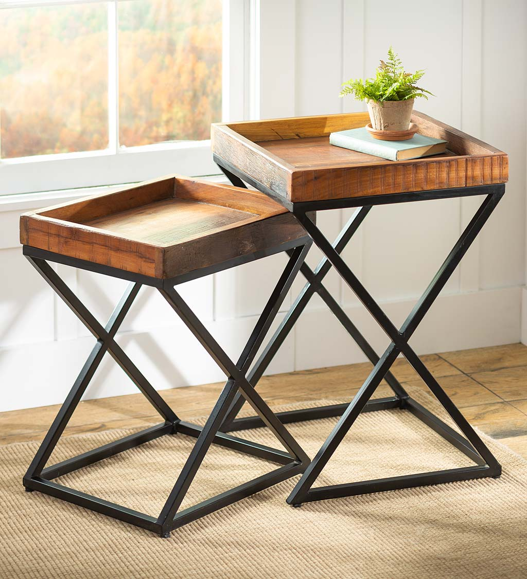 Allegheny Reclaimed Wood Nesting Tables, Set of Two