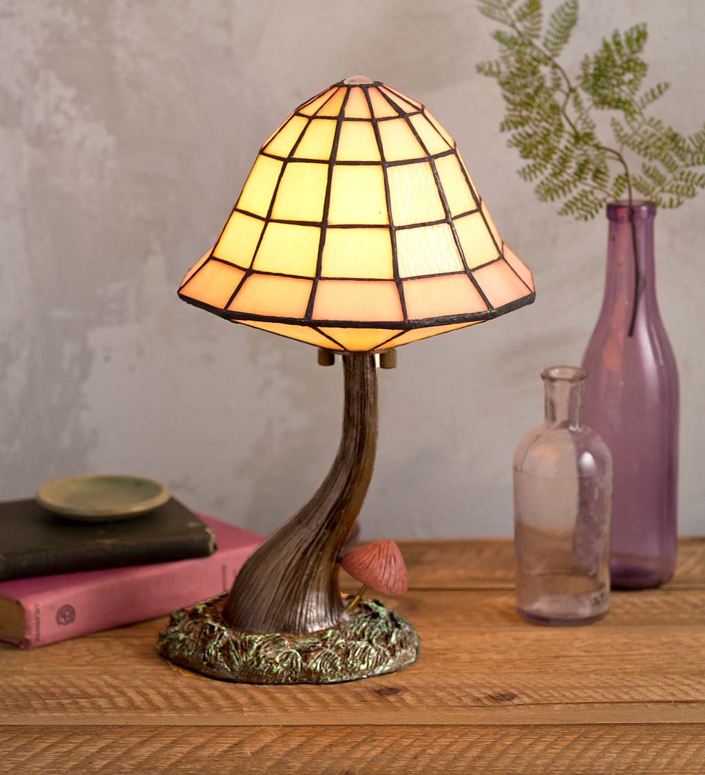 Stained Glass Mushroom Table Lamp