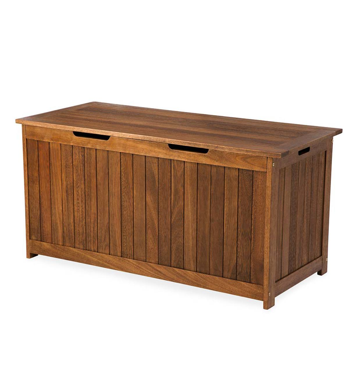 Eucalyptus Wood Storage Box, Lancaster Outdoor Furniture Collection