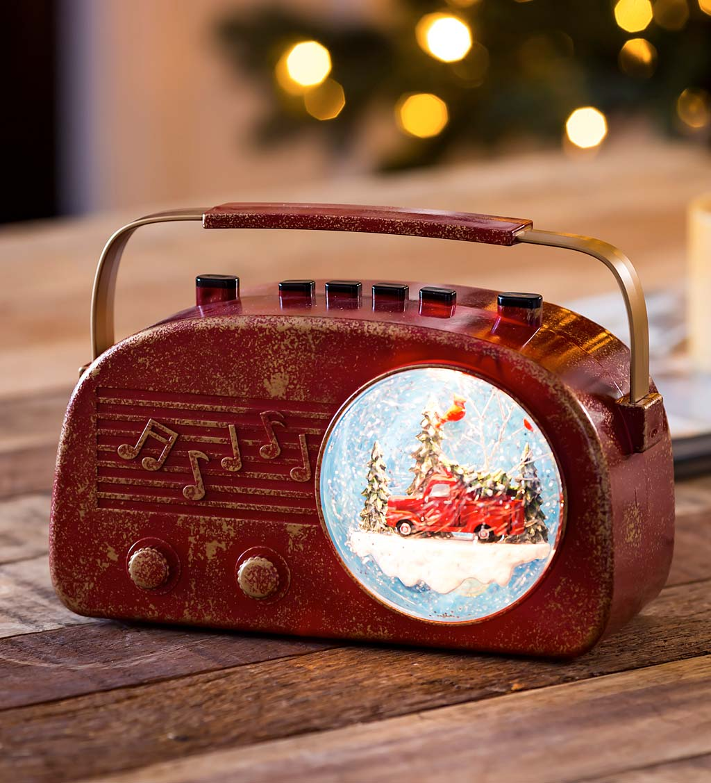 LED Musical Antique Radio Tabletop Décor