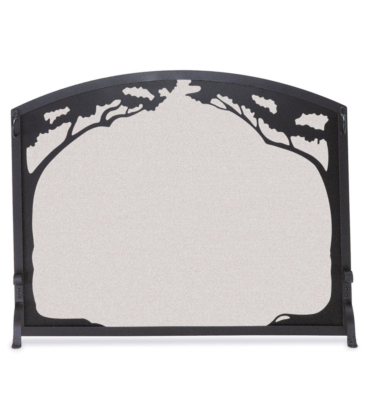 Grand Oak Flat Guard Fireplace Screen