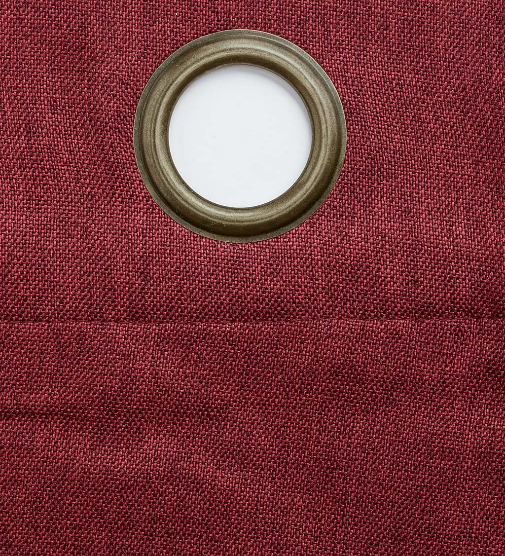 "Madison Double-Blackout Grommet Curtain Pair, 40""W x 84""L per panel swatch image"
