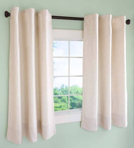 Insulated Short Curtain Panel With Rod Pocket 40 Quot W X 45 Quot L