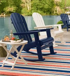 Wooden Adirondack Rocker - Black