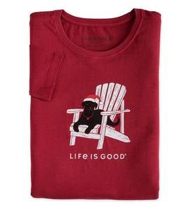 Life Is Good Women's Long Sleeve Crew Neck Crusher Tee