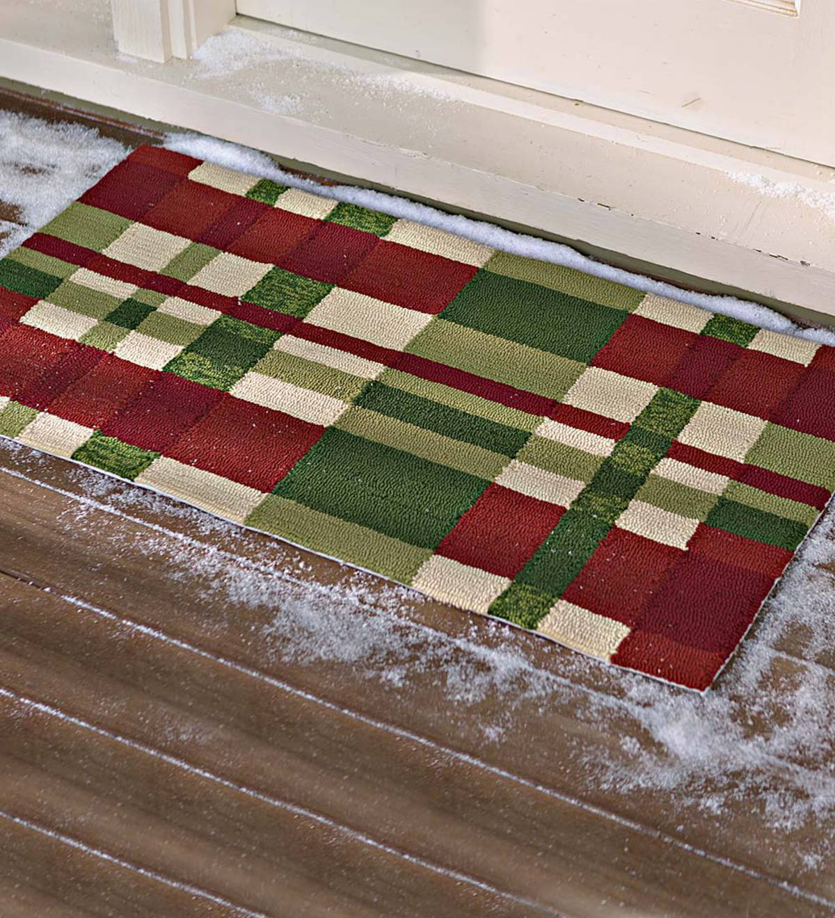 Holiday Plaid Indoor Outdoor Accent Rug Plowhearth
