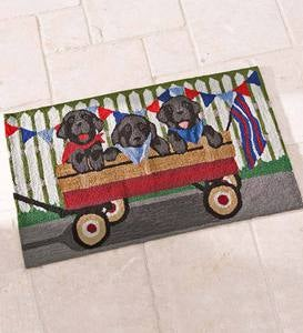 Indoor/Outdoor Tails a Wagon Rug